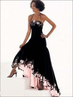 combining black with pink color...so pretty