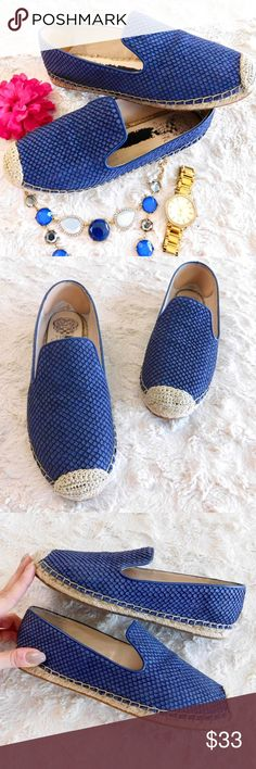 Vince Camuto Driston Snakeskin Espadrilles In excellent used condition, the only sign of wear is on the inside pad of the foot where I used to have foot pads {I removed them and part of them have remained stuck to the pad of the shoe}, I imagine some Goo-gone will get rid of it! Suede/leather upper, synthetic sole. Size 8. Sold out online! Smoke/pet free home. Ask all questions before buying NO trades!❌ Bundle for a discount! Vince Camuto Shoes Espadrilles