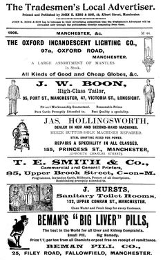 1906. Manchester Tradesmen's adverts page 3
