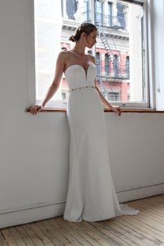 Bernadette by Robert Bullock at Sash & Bustle - Crepe Wedding Dress, Fit And Flare Wedding Dress, Sweetheart Wedding Dress, Bridal Collection, Dress Collection, Bridal Gowns, Wedding Gowns, Minimalist Wedding Dresses, Mermaid Gown