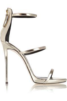 Giuseppe Zanotti | Coline metallic leather sandals | giuseppe zanotti
