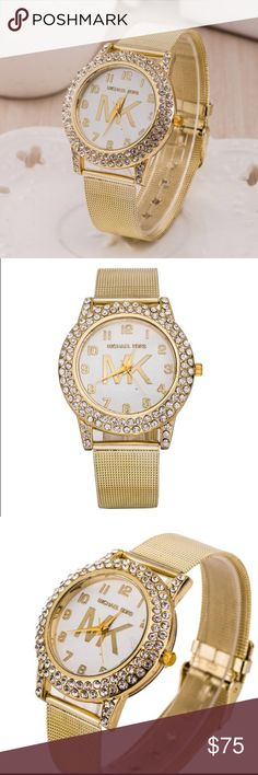 Gold MK watch NEW and high quality watch!! It's special design will make you look unique and fashionable. KORS Michael Kors Accessories Watches