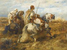 Adolf Schreyer (German, 1828-1899). Horsemen