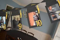 Decoration/garland made with pictures from K-graduation