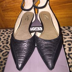 Seychelles black leather flats. Seychelles black leather & snake skin flats with ankle strap. This shoe is in great condition no rips tears or stains. Seychelles Shoes Flats & Loafers