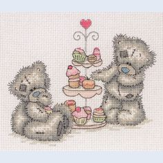 Tatty Teddy Cupcakes - Me to You - counted cross stitch kit Coats Crafts