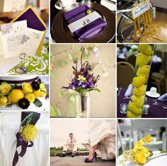 Purple & Yellow...beautiful wedding combo!