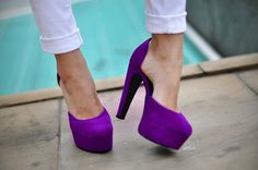 I'm a sucker for a platform and love purple - perfect combo