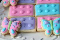 Lego Friends Birthday - Lego girl Party ideas - Lego Friends - sugar cookies