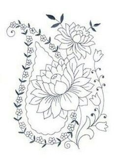 This post was discovered by De Hand Embroidery Patterns, Diy Embroidery, Embroidery Stitches, Lotus Flower Art, Folk Art Flowers, Dossier Photo, Zentangle, Wreath Drawing, Scandinavian Folk Art
