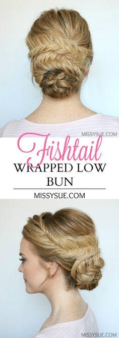 fishtail-wrapped-low-bun-tutorial-prom-bridal
