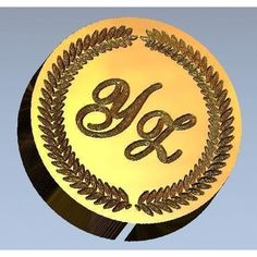 Shelly Allegro Monogram Wax Seal Stamp - Select Size, Handle & Trim