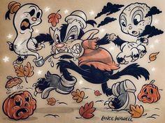 Stuff I do. Tales Of Halloween, Whimsical Halloween, Halloween Artwork, Halloween Horror, Cartoon Sketches, Cartoon Styles, Cartoon Art, Amazing Drawings, Art Drawings