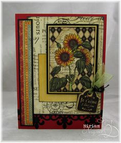 I used Graphic 45 French Country paper and tag to make my card.