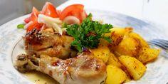 Cooking with Zoki: Piletina na grčki način Feta, Shrimp, Cooking Recipes, Food, Chef Recipes, Recipies, Recipes