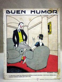 ANTIGUA REVISTA. BUEN HUMOR. SEMANARIO SATÍRICO. Nº 48. MADRID. 1922. DIBUJANTE. REINOSO