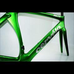 Green with envy....? #cervelo #cervelos5 #customised #green #metalicgreen #aeroroad #roadbike #roadracing #cycling #cyclist #bike #custompaint