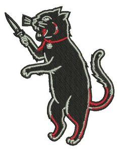 Spooky Black Cat Iron On Patch