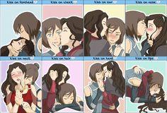 """Korrasami (The Legend of Korra) - """"Kiss meme"""" Doodlemederp on Avatar Legend Of Aang, Korra Avatar, Team Avatar, Legend Of Korra, Kora And Asami, Sasameki Koto, Kiss Meme, The Last Avatar, Avatar World"""