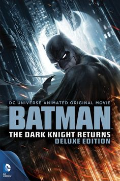 DCU: Batman: The Dark Knight Returns Deluxe Edition (DVD) Based on Frank Miller's acclaimed graphic novel, Batman comes back to Gotham after years of retirement to deal with new and deadly attacks by old villainous forces. Batman The Dark Knight, Batman Dark, Dc Universe, Batman Universe, Maggie Gyllenhaal, Batman Begins, Frank Miller, Gary Oldman, Christopher Nolan