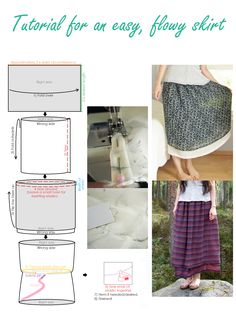 KISS - A beginner's skirt sewing project.