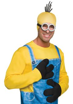 Black Minion Unisex Adult Halloween Gloves Costume Accessory - One Size Minion Costumes, Buy Costumes, Minions Despicable Me, Costume Shop, Costumes For Women, Movie Costumes, Minion Movie, Costumes, Carnavals