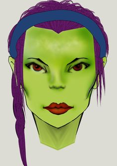 Green Skin Work With Clip Studio Paint