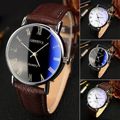 Cheap watch audio, Buy Quality band led watch directly from China watches for him and her Suppliers:  Hot    Men Roman Numerals Blu-Ray Faux Leather Band Quartz Analog Business Watch    Specifications: Simple in design, s