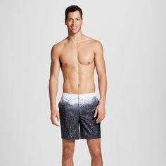 Dwg Men's B&w Raindrops Swim Trunks 7.5 - Black 36