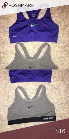 Two Nike Sport Bras Perfect condition Nike Intimates & Sleepwear Bras