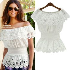 2015 new fashion women cotton blouses o neck short sleeve shirts elastic waist tops plus size free shipping-in Blouses & Shirts from Women's Clothing & Accessories on Aliexpress.com | Alibaba Group-5.99$