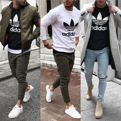 mentions J'aime, 78 commentaires – Men's Fashion ( … Sponsored Sponsored likes, 78 comments – Men's Fashion ( Mode Outfits, Casual Outfits, Fashion Outfits, Fashion Ideas, Mode Masculine, Teen Boy Fashion, Mens Fashion, Adidas Fashion, Street Fashion