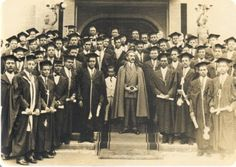 Haile Selassie at a graduation ceremony.