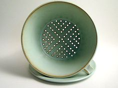 Sylph Baier - green colander and plate