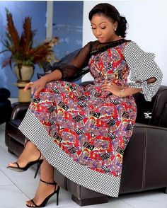 This collection of the latest Ankara styles tagged Ankara Patrol 1 is a selection of the trendy designs using the famous Ankara fabric. The collection features 50 recent pictures of the latest Ankara styles. Short African Dresses, Latest African Fashion Dresses, African Print Dresses, African Print Fashion, Africa Fashion, Ankara Fashion, Long Dresses, African Prints, African Fabric