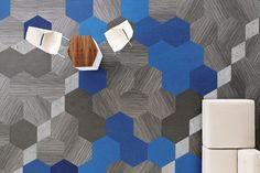 Hexagonal flooring blue - Google Search