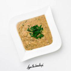 Zupa pieczarkowo-serowa bez sera wegańska bezglutenowa