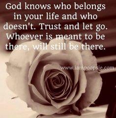 Trust and let go quote via www.IamPoopsie.com