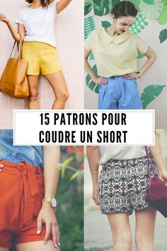 Coudre un short : les + beaux patrons de couture et DIY Diy Shorts, Sewing Shorts, Sewing Clothes, Crochet Clothes, Diy Couture, Couture Sewing, Diy Pantalones Cortos, Diy Vetement, Creation Couture
