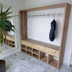 Wood Pallet Wardrobe for Clothes
