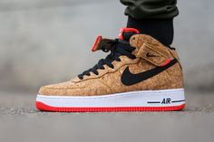 "Nike Air Force 1 Mid ""Cork & Infrared"""