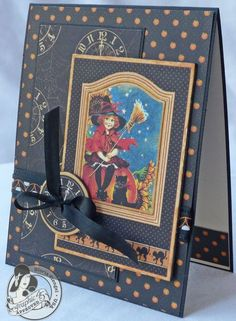 Check out this wonderful 10-Minute Halloween card from @Gloria Stengel! What a cute and perfect card! #graphic45 #cards