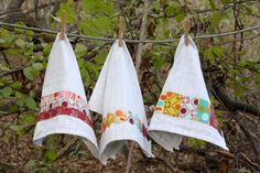 Perfect for Scraps: Fabric Embellished Dish Towels