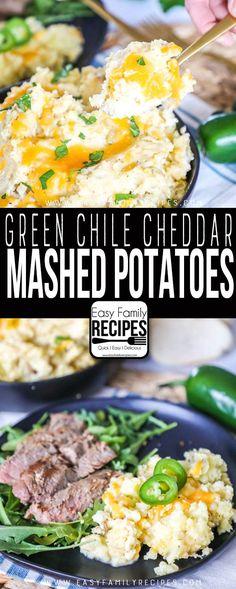 The BEST Mashed Potatoes recipe! These totally kick it up about 10 notches! Potato Sides, Potato Side Dishes, Best Side Dishes, Vegetable Sides, Vegetable Side Dishes, Main Dishes, Mexican Mashed Potatoes Recipe, Easy Mashed Potatoes, Mashed Potato Recipes