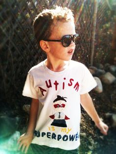 """Cool  """"Autism is my Superpower"""" T-Shirt. $23.00, via Etsy. This is soooo cute"""