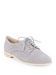 French Connection: Dakin Perforated Suede Oxfords