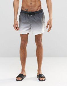 Style Society Guy | Denim Camp Shirt + Black Gold Swim Shorts