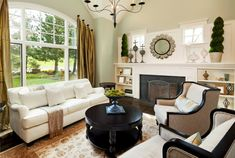 Add shades of green to a black-and-white motif to add a welcome natural element into the mix.  - GoodHousekeeping.com