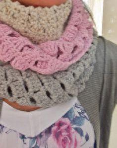 Kat Kat Katoen: Zus met sjaal- Supermakkelijke colsjaal haken!