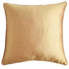 Silk Pillow - Honey-- for formal living room